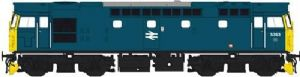 Heljan 2727 Class 27, Blue with Full Yellow Ends, No.5363